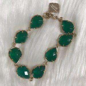 Kendra Scott Gold Brynn Bracelet in Emerald
